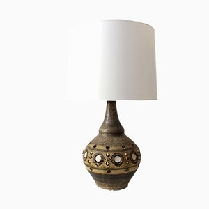 Large French Ceramic Table Lamp by Georges Pelletier, 1970s