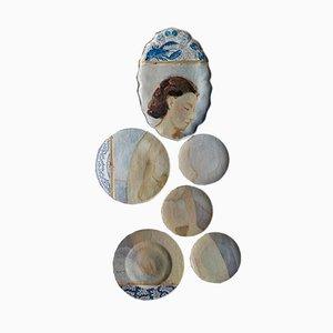 Platos Flemish Nude de Studio Desimonewayland. Juego de 6