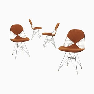 Model DKR Bikini Dining Chairs by Charles & Ray Eames for Herman Miller, 1960s, Set of 4