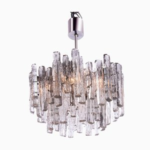 Austrian Frosted Glass Chandelier by J. T. Kalmar for Kalmar, 1960s