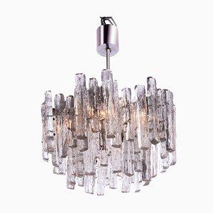 Lámpara de araña austriaca de vidrio esmerilado de J. T. Kalmar para Kalmar, años 60