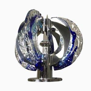 Italienische Tischlampe aus Muranoglas & Stahl von Angelo Brotto für Esperia, 1970er