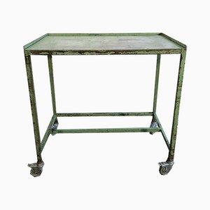Carrito industrial vintage en verde, años 60