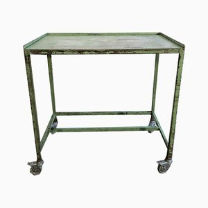 Vintage Industrial Green Cart, 1960s