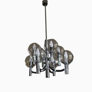 Chrome and Glass Ceiling Lamp from Kaiser Idell / Kaiser Leuchten, 1960s