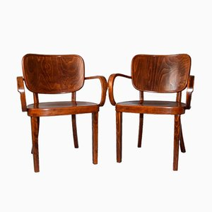 Bentwood Armchairs from by Bernkop, 1920s, Set of 2