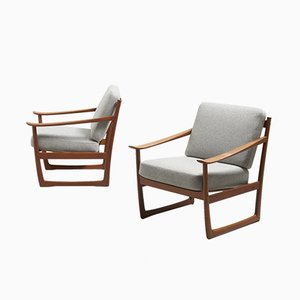 Model FD 130 Lounge Chairs by Peter Hvidt & Orla Mølgaard-Nielsen for France & Søn/France & Daverkosen, 1960s, Set of 2