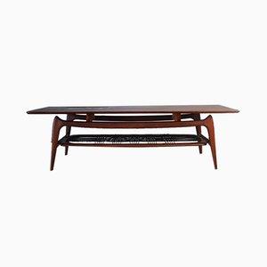 Table Basse en Teck et Céramique par Louis van Teeffelen pour WéBé, 1950s
