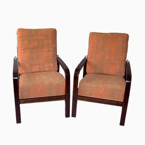 Art Deco Armchairs by Jan Vanek for UP Závody, 1920s, Set of 2