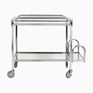 French Art Deco Bar Cart by Jacques Adnet, 1930s