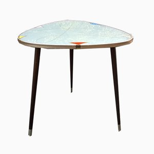 Tripod Glass Top Coffee Table, 1960s