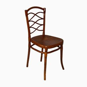 Antiker Nr. 62 Beistellstuhl aus gebogenem Holz von Thonet
