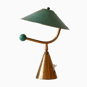 French Brass Table Lamp, 1950s