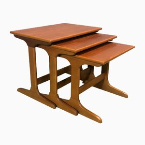 Teak Nesting Tables, 1970s, Set of 3