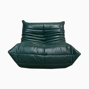 Vintage Leather Togo Lounge Chair by Michel Ducaroy for Ligne Roset
