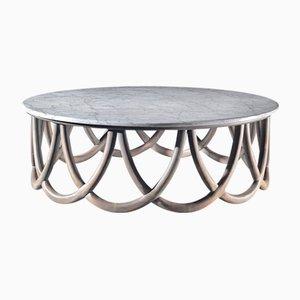 Mesa de centro de madera y mármol de Jacobo Ventura para Ca Spanish Handicraft