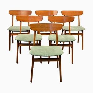 Chaises de Salle à Manger en Teck et Hêtre de Findahls Møbler, 1960s, Set de 6