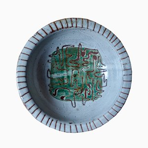 Ceramic Decorative Plate by Jean Rivier, 1960s