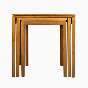 Tables Gigognes en Teck de McIntosh, 1960s, Set de 3