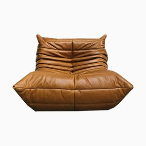 Vintage Leather Lounge Chair by Michel Ducaroy for Ligne Roset
