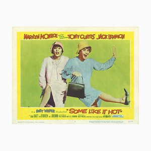 Vintage Some Like It Hot Lobby Card Film Poster, 1959