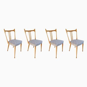 Mid-Century Dutch Dining Chairs from Stevens, Set of 4