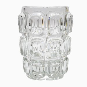 Optical Glass Vase by Frantisek Vizner for Libochovice, 1960s