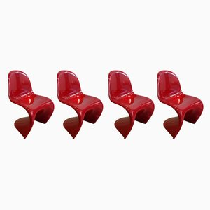 Dining Chairs by Verner Panton for Horn Collection, 1984, Set of 4