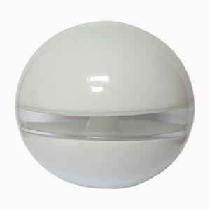 Lámpara de mesa italiana con globo de cristal de Murano de Carlo Nason para Mazzega, 1972