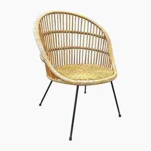 Italian Rattan and Metal Chair from Pierantonio Bonacina, 1962