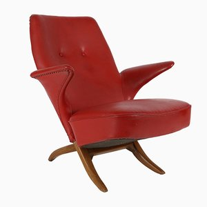 Mid-Century Modern Penguin Lounge Chair by Theo Ruth for Artifort, 1957