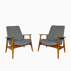 Model SK670 Chauffeuse Lounge Chairs by Pierre Guariche for Steiner, 1950s, Set of 2