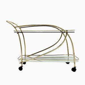 Brass & Glass Bar Trolley, 1950s