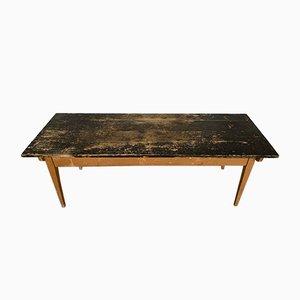 Mesa de comedor antigua de abeto