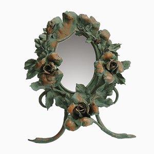 Antiker Jugendstil Schmiedeeisen Spiegel von Louis Van Boeckel