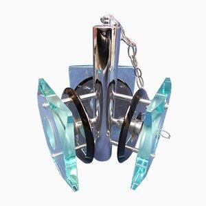 Kronleuchter aus Kristallglas von Fontana Arte, 1960er