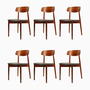 Rosewood Dining Chairs by Harry Østergaard for Randers Møbelfabrik, 1960s, Set of 6