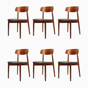 Sedie da pranzo in palissandro di Harry Østergaard per Randers Møbelfabrik, anni '60, set di 6