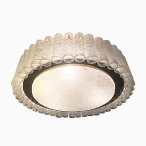 Mid-Century Ice Glass Ceiling Lamp from Doria Leuchten, 1960s