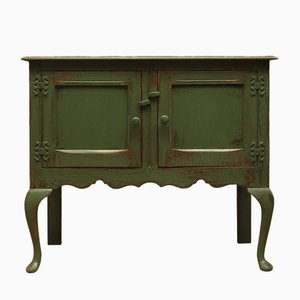 Antique Green Painted Sideboard