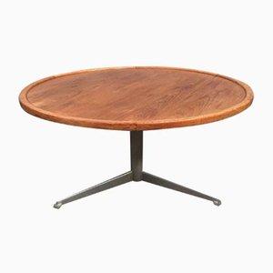 Mid-Century Steel and Teak Coffee Table
