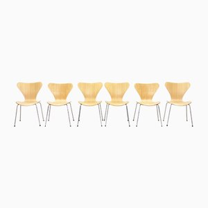 Model 3107 Butterfly Dining Chairs by Fritz Hansen for Arne Jacobsen, 1990s, Set of 6