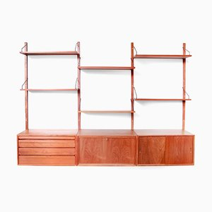 Large Teak Modular Wall Unit by Poul Cadovius for Royal System, 1960s