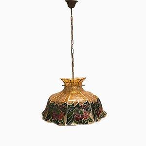 Lampe à Suspension Tiffany Vintage, 1970s