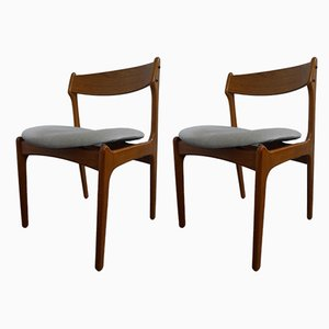 Teak Dining Chairs by Erik Buch, 1960s, Set of 2
