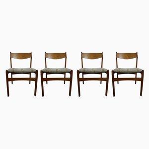 Chaises de Salle à Manger en Teck par Erik Buch, 1960s, Set de 4