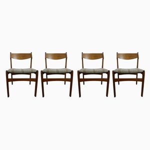 Teak Dining Chairs by Erik Buch, 1960s, Set of 4