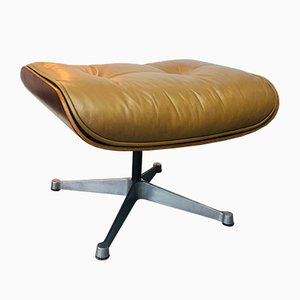 Rosewood and Leather Model 671 Ottoman by Charles & Ray Eames for Herman Miller, 1960s