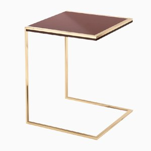 Metal, Lacquer, & Stainless Steel Side Table by Pradi for Pradi Handicraft