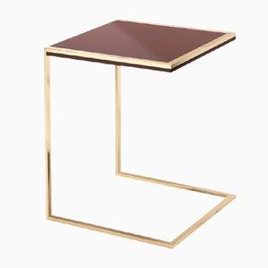 Table d'Appoint en Métal, Laque et Acier Inoxydable par Pradi pour Pradi Handicraft